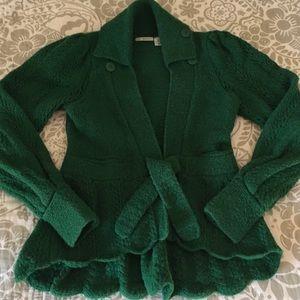 Anthropologie Vintage Kelly Green Sweater